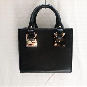 Faux Leather Mini Crossbody Handbag Purse - EUC